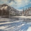 Banff Snow - By Canadian Artist Holly Dyrland