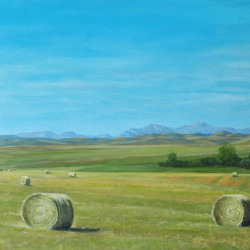 Bales Of Summer by Landscape, Western, Canadian Contemporary Realism