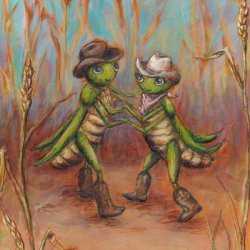 Two Steppin' by Illustration, Western, Whimsical