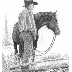 Cowboy by Figurative, Horses, Western