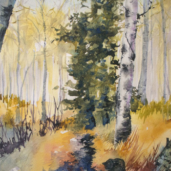 A Walk In The Forest - By Canadian Artist Angela Fehr