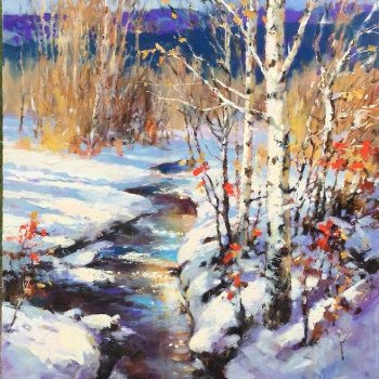 Autumn Snowfall - By Canadian Artist Brent Heighton