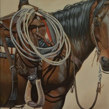 Ready for Work - By Canadian Artist Cindy Welsh