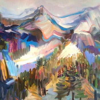 On the Ridge - By Canadian Artist Jane Appleby