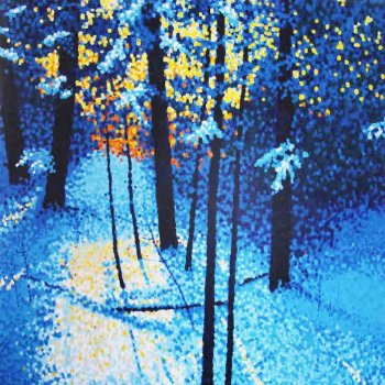 Alberta Artist Jim Pescott Dot Paintings Landscape Art