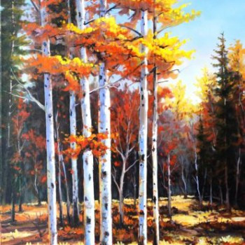 Golden Brushes - By Canadian Artist Jonn Einerssen
