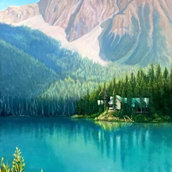 Emerald Lake - By Canadian Artist Ray E Swirsky